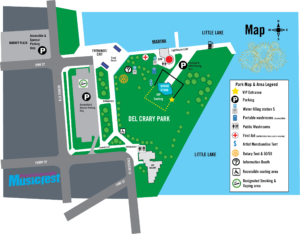 Map of Del Crary Park